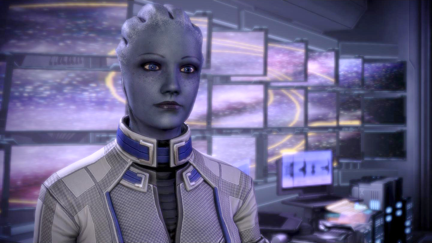 Liara auf der Normandy in Mass Effect 3