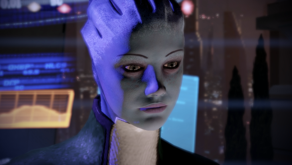 Liara in ihrem Büro in Mass Effect 2